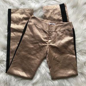 Derek Lam 10 Crosby Silk Blend Metallic Pant
